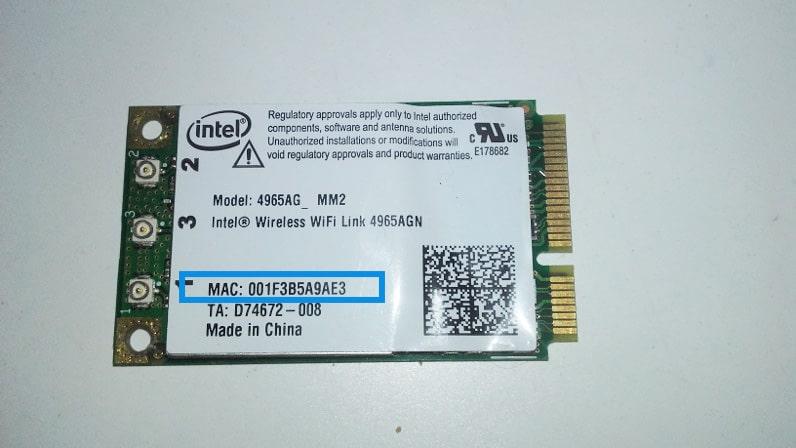 mac address wifi
