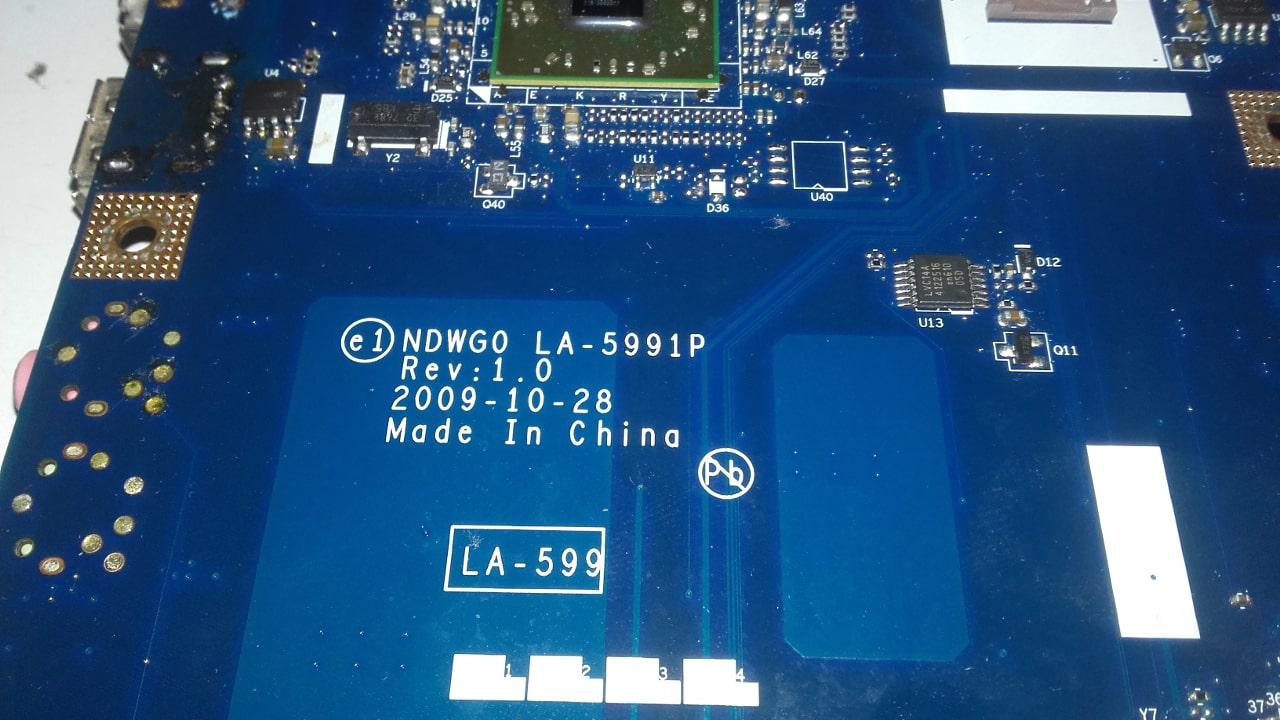 emachines G630 motherboard la-5991p البردة